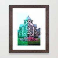 Cracked church... Framed Art Print