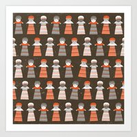 Significant Figures - Worry Dolls Art Print