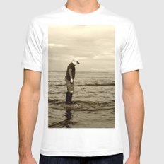 A Boy and The Sea White Mens Fitted Tee SMALL