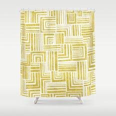 Golden Doodle weave Shower Curtain