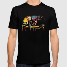 Ballerina riding Mens Fitted Tee Black SMALL