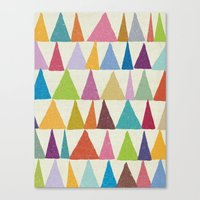 Analogous Shapes In Bloo… Canvas Print