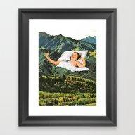 Rising Mountain Framed Art Print