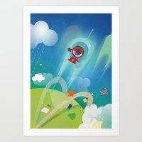 The Eyez - Astronaut Art Print