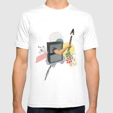 UNTITLED #2 White SMALL Mens Fitted Tee
