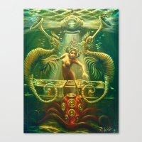 DJ Seahorse Canvas Print