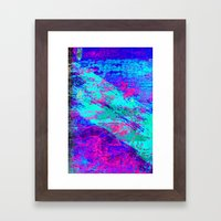 AA4 Abstract watercolour collage Framed Art Print