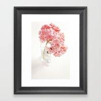 Pink Hydrangeas Framed Art Print