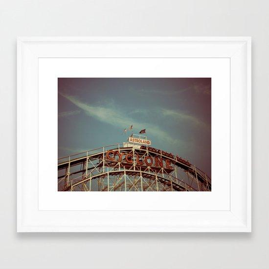 Coney Island Cyclone Framed Art Print