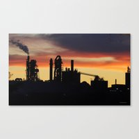Industrial Sunset Canvas Print