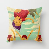 Tapete Voador Throw Pillow