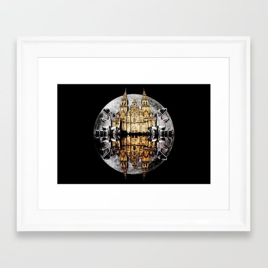 Crystals, Castles, and Moons Framed Art Print