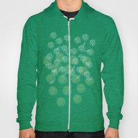 Pastel Peony and Leaf Pattern Design  Hoody