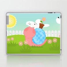 Pink Snail (female) Laptop & iPad Skin