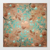 Copper Autumn Canvas Print