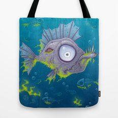 Zombie Fish Tote Bag