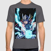 The Mighty THOR! Mens Fitted Tee Asphalt SMALL