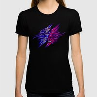 Twin Demons Intertwined Womens Fitted Tee Black SMALL