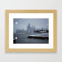 Chicago in the Snow Framed Art Print