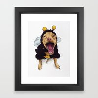 Chihuahua in bee costume - Tuna Framed Art Print