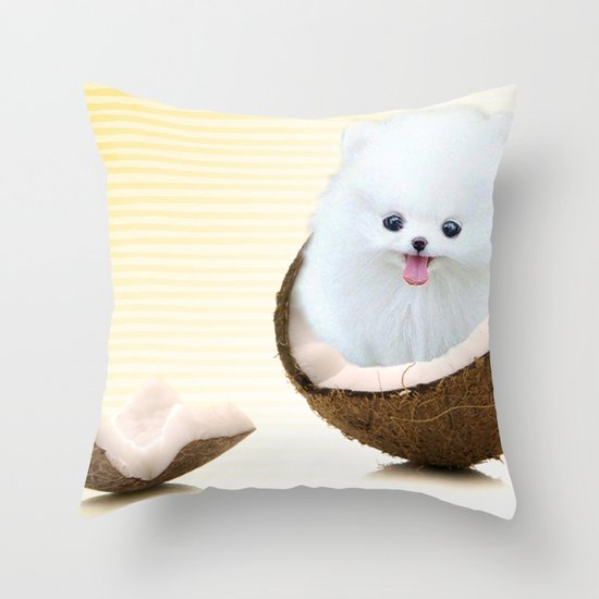 coconutty Throw Pillow