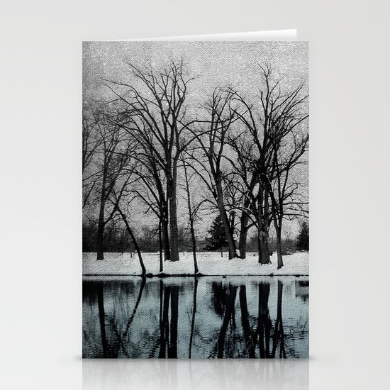 Winter in the Park Stationery Card