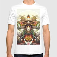 Deity Mens Fitted Tee White SMALL