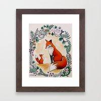 Fox Season Framed Art Print