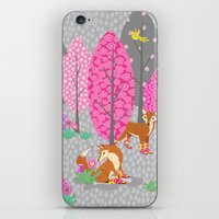 Foxes In Galoshes - Pink… iPhone & iPod Skin