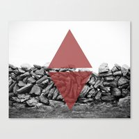 red walls Canvas Print