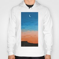 Pre-Dawn Moonrise, painting Hoody