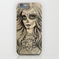 sugar skull iPhone & iPod Cases featuring Sugar Skull by Vivian Lau