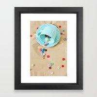 Buttons & Teacups Framed Art Print
