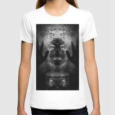 By the light of MY cauldron Womens Fitted Tee White SMALL