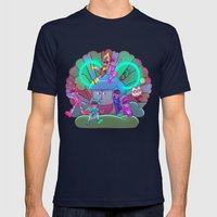 Osomatsu-san :: Electrical Parade (ver1) Mens Fitted Tee Navy SMALL