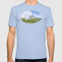 Green skycrapers Mens Fitted Tee Tri-Blue SMALL