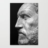 Statue Of A Head Canvas Print