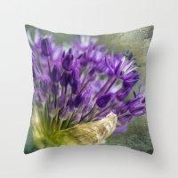Allium Blossoms Throw Pillow