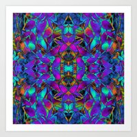 Fractal Floral Abstract … Art Print