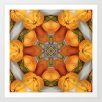 pumpkin ( pattern ) Art Print