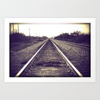 You can only move forward from here. Art Print