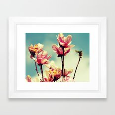 Blooming Spring Flowers Framed Art Print