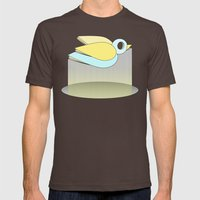 let me fly Mens Fitted Tee Brown SMALL