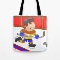 Winter Sports: Ice Hockey Tote Bag