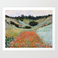 Poppy Field In A Hollow … Art Print