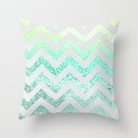 FUNKY MELON SEAFOAM Throw Pillow
