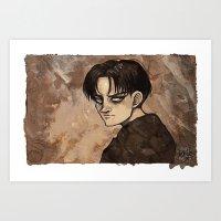 Coffee Painting - Levi Art Print
