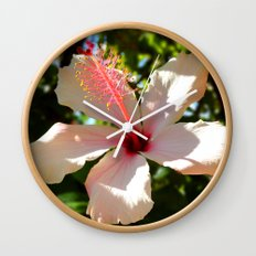 Hibiscus IV Wall Clock