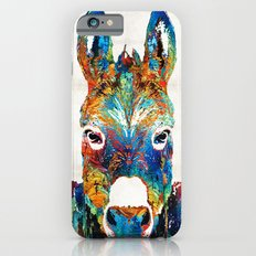 Colorful Donkey Art - Mr. Personality - By Sharon Cummings iPhone 6 Slim Case