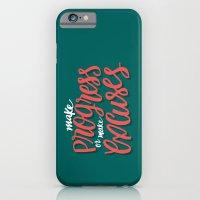 Make Progress or Make Excuses iPhone 6 Slim Case